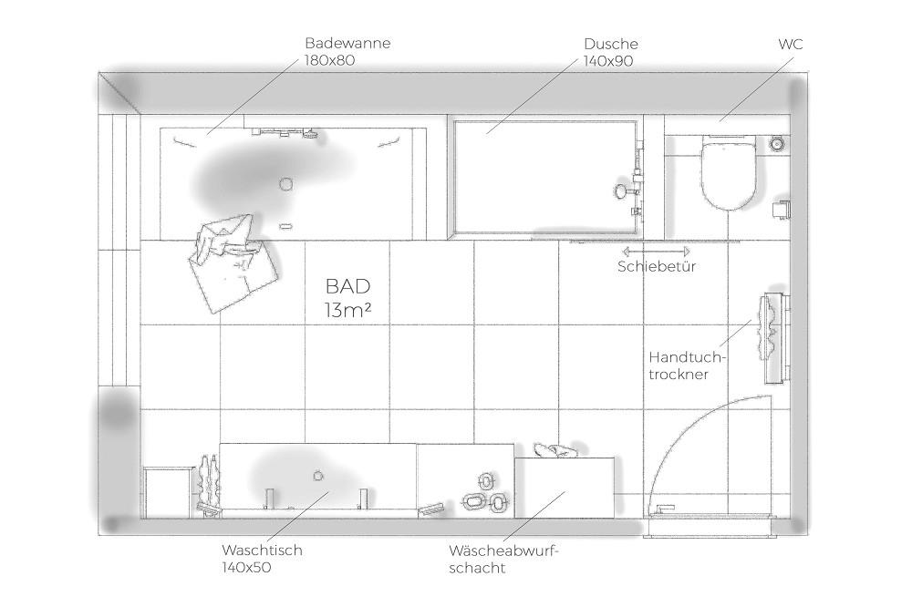 Neues Bad - Ries ProDesign – DI Jana Ries - Innenarchitektur Linz